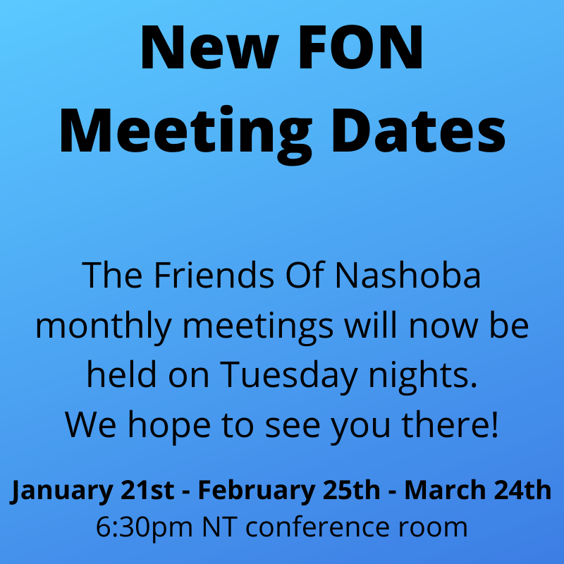 New FON Tues Meetings
