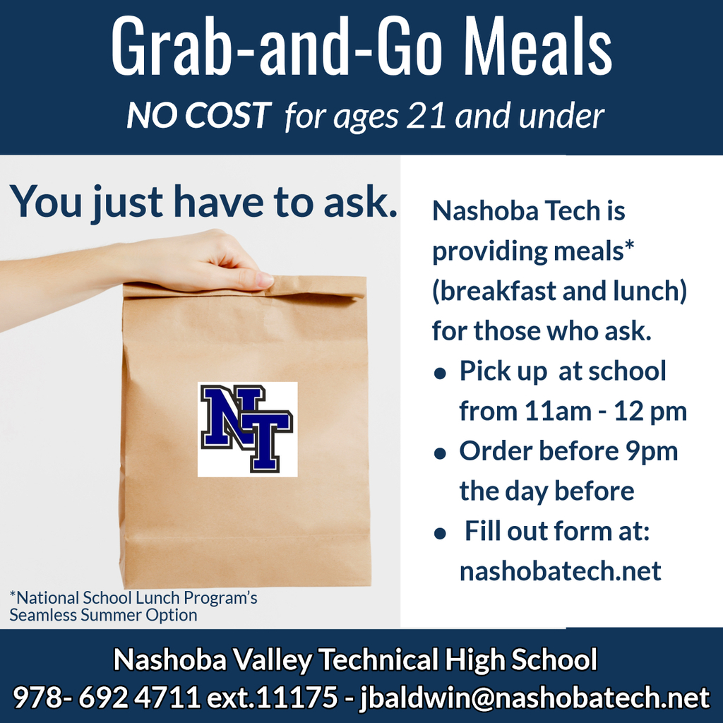 Nashoba Tech Summer Grab and Go